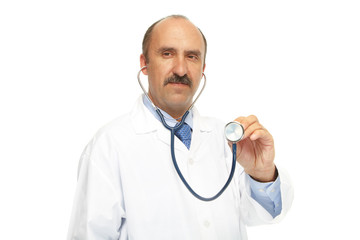 Medical doctor and stethoscope