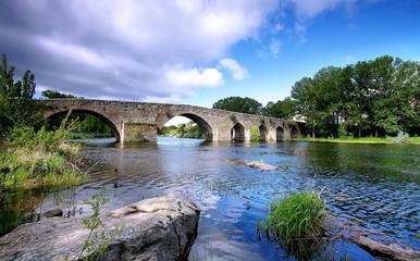 Bridge and river in El barco de Avila village