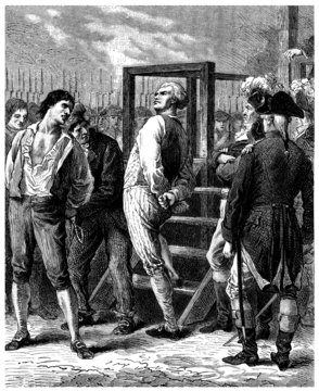 French Revolution : Condamned to Guillotine - end18th century
