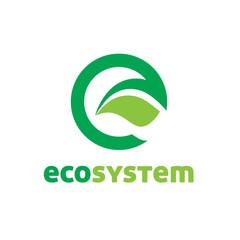 Eco Letter E logo
