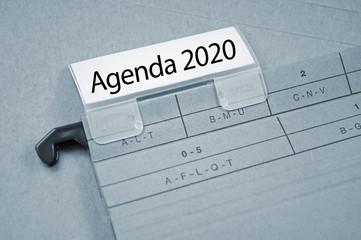 Ordner mit Agenda 2020