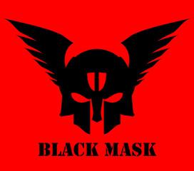 winged black mask