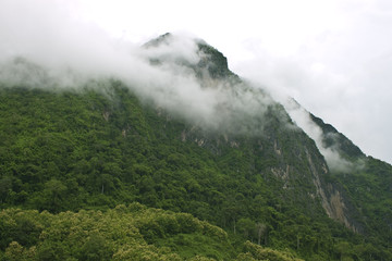 Hills in northern Laos