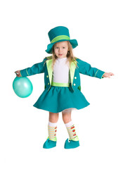 Child in costumes leprechaun, St. Patrick's Day