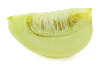 Apple melon isolated on white background