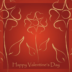 Happy Valentine's Day lettering Greeting Card