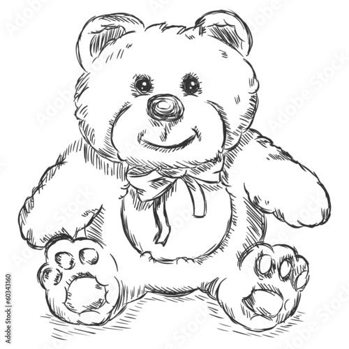 Teddy bear sketch