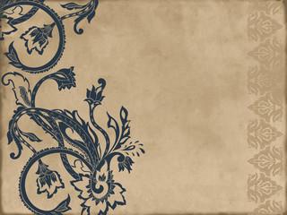 Paisley pattern on vintage background. Vector illustration
