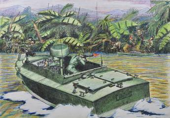 American patrol was fighting against Vietnamese guerrillas