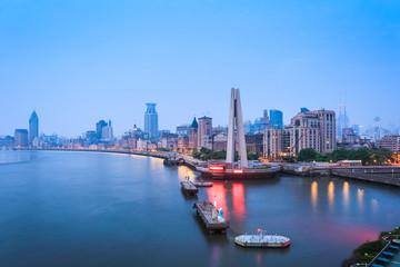 shanghai bund in dawn