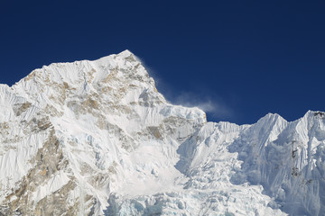 nupche peak beside of everest from everest trek