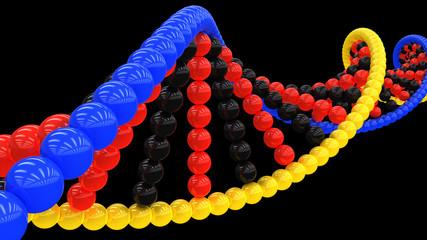 3d model of DNA on a black background  #1