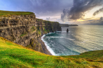 Wall Mural - Cliffs of Moher at sunset, Co. Clare, Ireland