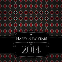 Happy New Year background with blurred flickering lights