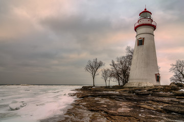Autocollant pour porte Phare Marblehead Lighthouse