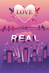 """Love is Real"" design"