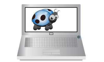 Laptop and Ladybird