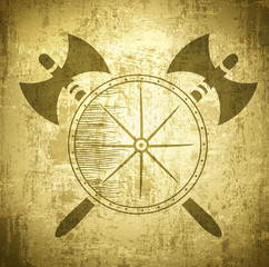 Vintage Viking Background