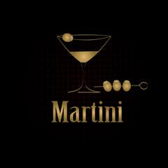Martini glass design menu background. Vector