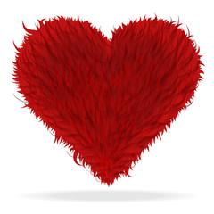 Valentine furry heart