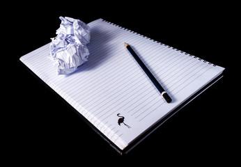 Notebook .Shot In Studio Over Black Background