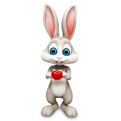 Happy bunny with heart