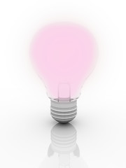 Ligth bulb on isolate background