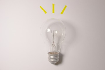 lightening bulb, idea concept