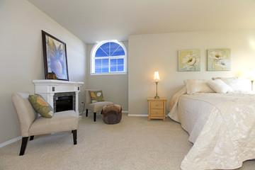 Elegant large bedroom