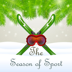 The season of sport Goddles and skiing
