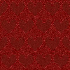 seamless red denim