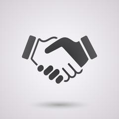 black handshake background