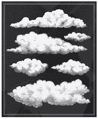 Vintage Cloud Background Chalkboard