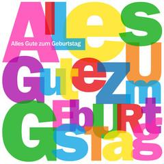 """""""ALLES GUTE ZUM GEBURTSTAG"""" Karte (Geburtstagskarte)"""