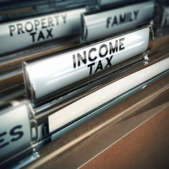 Income Tax - Taxes Concept