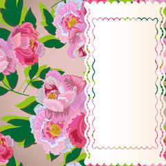 Floral Background With A Rectangular Frame