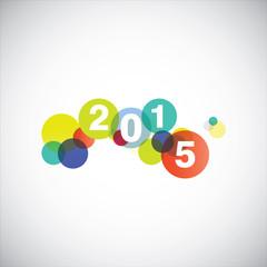 Happy new year 2015 card.