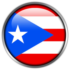 Puerto Rico Flag glossy button