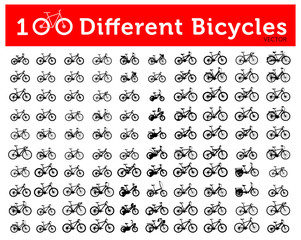 100 Different Bicycles