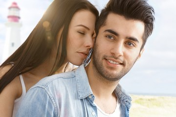Summer portrait of romantic couple