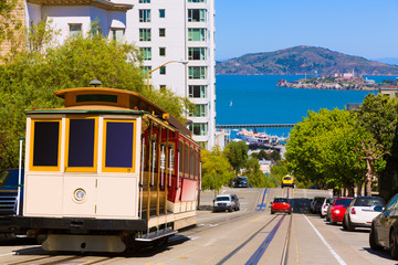 San francisco Hyde Street Cable Car California Wall mural