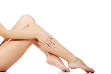 Beautiful fit long female legs
