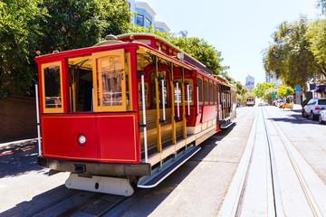 Canvas Prints San Francisco San francisco Hyde Street Cable Car California