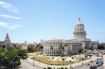 Poster de jardin Havana The Capitol in Havana, Cuba