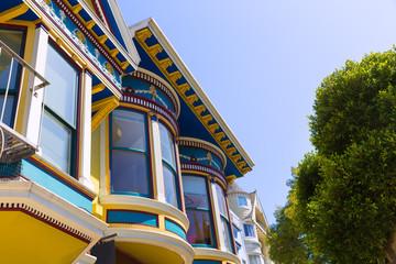 San Francisco Victorian houses in Haight Ashbury California