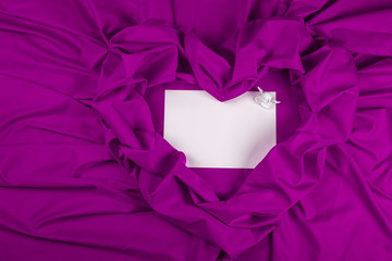 love card with angel on a purple fabric