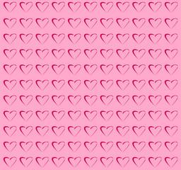 Cuori su sfondo rosa