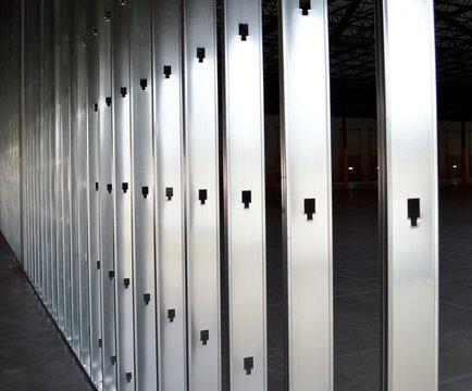 Metal wall stud framework