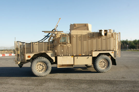british army armoured Ridgeback vehicle