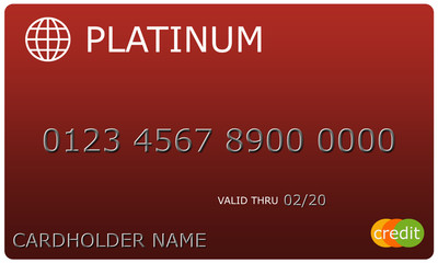 Platinum red Credit Card